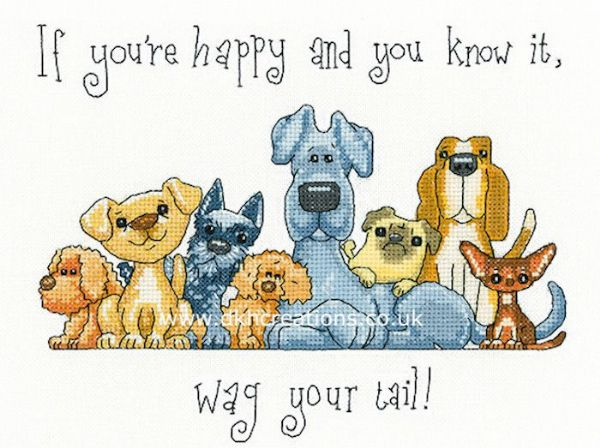 Wag Your Tail Cross Stitch Kit